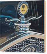 1931 Model A Ford Deluxe Roadster Hood Ornament Wood Print by Jill Reger