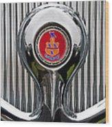 1935 Pierce-arrow 845 Coupe Emblem Wood Print by Jill Reger