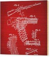 1937 Police Remington Model 8 Magazine Patent Artwork - Red Wood Print by Nikki Marie Smith