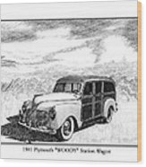 1941 Plymouth Woody Wood Print by Jack Pumphrey