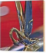 1948 Packard Hood Ornament Wood Print by Jill Reger