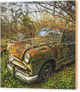 1949 Ford Wood Print by Debra and Dave Vanderlaan