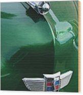1949 Studebaker Champion Hood Ornament Wood Print by Jill Reger