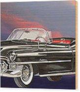 1953  Cadillac El Dorardo Convertible Wood Print by Jack Pumphrey