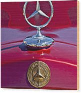 1953 Mercedes Benz Hood Ornament Wood Print by Jill Reger