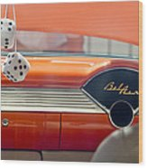 1955 Chevrolet Belair Dashboard Wood Print by Jill Reger