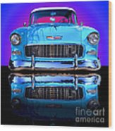1955 Chevy Bel Air Wood Print by Jim Carrell