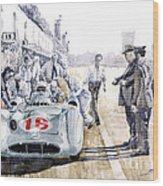 1955 Mercedes Benz W 196 Str Stirling Moss Italian Gp Monza Wood Print by Yuriy  Shevchuk
