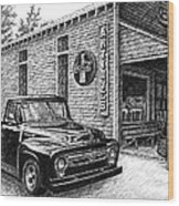 1956 Ford F-100 Truck Wood Print by Janet King