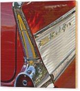 1957 Chevrolet Belair Taillight Wood Print by Jill Reger