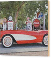1957 Chevy Corvette Wood Print by Robert Jensen