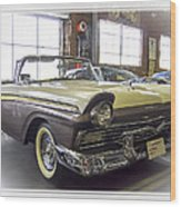 1957 Ford Fairlane Wood Print by Steve Benefiel