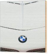 1958 Bmw 507 Roadster Hood Emblem Wood Print by Jill Reger