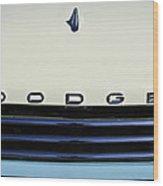 1958 Dodge Sweptside Truck Grille Wood Print by Jill Reger