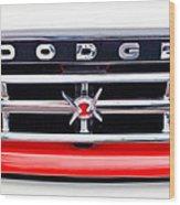 1960 Dodge Truck Grille Emblem Wood Print by Jill Reger