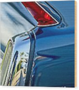 1962 Cadillac Deville Taillight Wood Print by Jill Reger