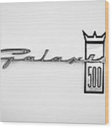1963 Ford Galaxie 500 R-code Factory Lightweight Emblem Wood Print by Jill Reger