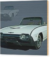 1963 Ford Thunderbird Convertible Wood Print by Tim McCullough