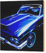 1964 Thunderbird Wood Print by Phil 'motography' Clark