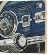 1965 Volkswagen Vw Beetle Steering Wheel Wood Print by Jill Reger