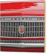 1967 Fiat Abarth 1000 Otr Grille Wood Print by Jill Reger