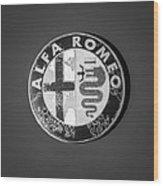 1986 Alfa Romeo Spider Quad Emblem Wood Print by Jill Reger