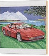 1987 Ferrari Testarosa Wood Print by Jack Pumphrey
