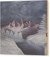 1st Painting 2-27-1991 Wood Print by Rhonda Lee