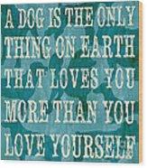 A Dog Wood Print by Debbie DeWitt
