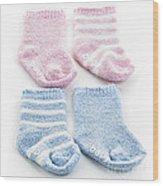 Baby Socks Wood Print by Elena Elisseeva