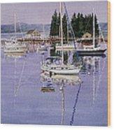 Boothbay Harbor Wood Print by Karol Wyckoff