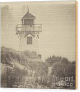 Covehead Light Wood Print by Meg Lee Photography