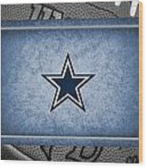 Dallas Cowboys Wood Print by Joe Hamilton