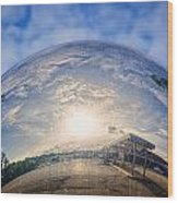 Distorted Reflection Wood Print by Sennie Pierson