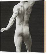 Eugen Sandow In Classical Ancient Greco Roman Pose Wood Print by American Photographer
