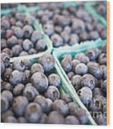 Fresh Blueberries Wood Print by Edward Fielding