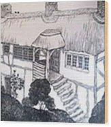 Garden Cottage Wood Print by Diane Fine