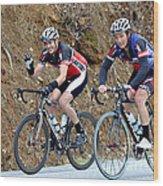 Gran Fondo Bike Ride Wood Print by Susan Leggett