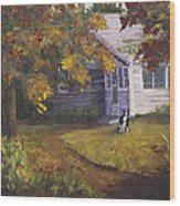 Grandma's House Wood Print by Bev Finger
