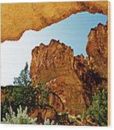 Juniper Gulch Oregon Wood Print by Ed  Riche