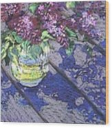 Lilacs Wood Print by Gloria  Nilsson