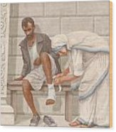 Mother Teresa Wood Print by John Alan  Warford
