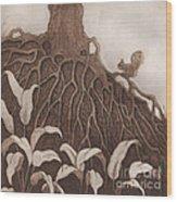 Nut Maze Wood Print by Suzette Broad