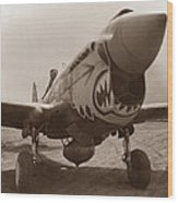 P-40 Warhawk Wood Print by War Is Hell Store