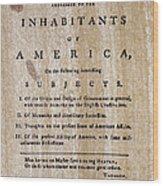 Paine: Common Sense, 1776 Wood Print by Granger