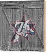 Philadelphia 76ers Wood Print by Joe Hamilton