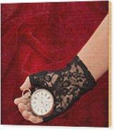 Pocket Watch Wood Print by Amanda Elwell