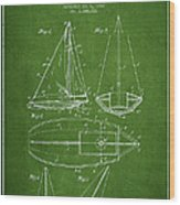 Sailboat Patent Drawing From 1948 Wood Print by Aged Pixel