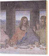 The Last Supper Wood Print by Leonardo Da Vinci