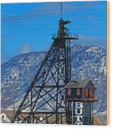 Travona Mine  Wood Print by Kevin Bone